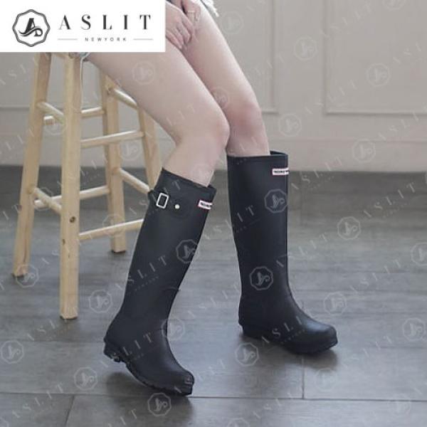 [애슬릿]여성 방수 젤리 롱 여름 장화 레인 부츠 3cm