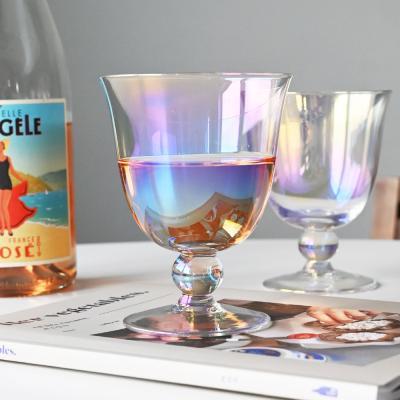 폴트 홀로그램 고블렛잔 와인잔 낮은형 300ml