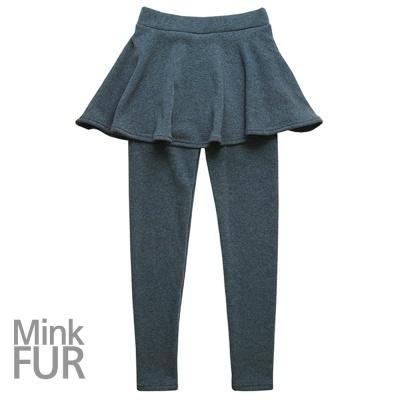 밍크퍼 플레어스커트 레깅스 따뜻한 융털