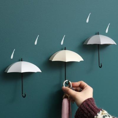 인테리어효과 만점!!  우산형 벽걸이 스토리지 후크  3p 세트 소품걸이 보관함
