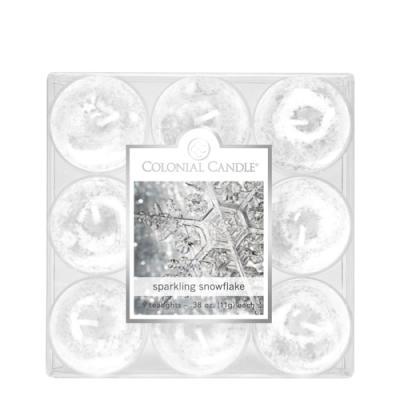 [1+1(랜덤)증정] COLONIAL CANDLE 2856 티라이트 9pk 캔들 빛나는 눈송이
