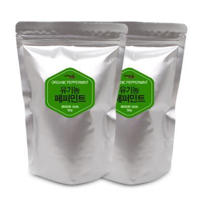 차예마을 허브차 유기농 페퍼민트 50g 리필 x 2팩