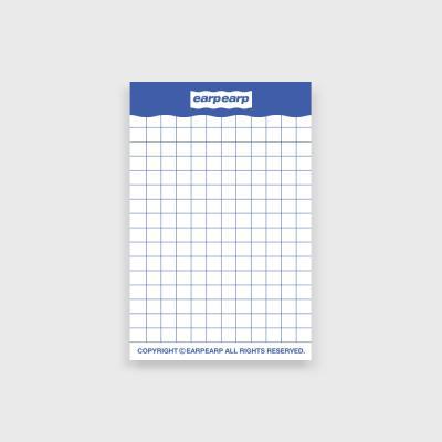 signature memo pad-blue(떡메모지)