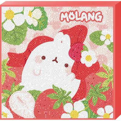 몰랑 딸기 (캔버스) 보석십자수 25x25