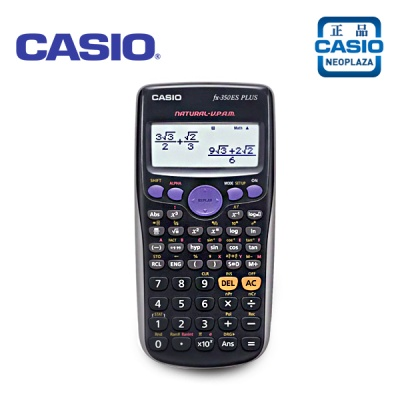 [카시오 정품] 카시오 공학용 계산기 FX-350ES PLUS/15자리,2행/삼각함수,역함수/쌍곡선,역쌍곡선함수/지수,로그/순열,조합