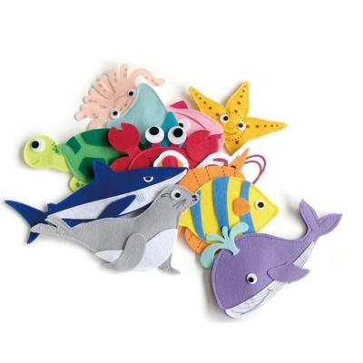 펠트 부직포 유아 자석 놀이 학습 교구 바다생물