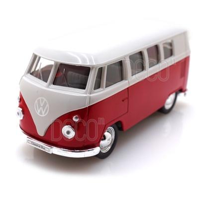 웰리 1963 폭스바겐 T1 버스 다이캐스트 풀백 모형