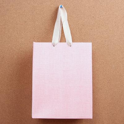 (와인앤쿡)린넨 pattern 쇼핑백1개(디자인랜덤)(26cm)