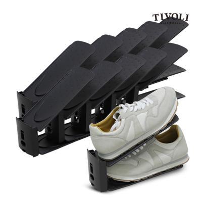 [티볼리] 높이조절 업그레이드 슈즈랙 (블랙) 10개