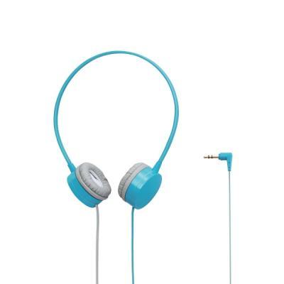 ELECOM 투톤 플랫 케이블 컬러 헤드폰 라이트블루