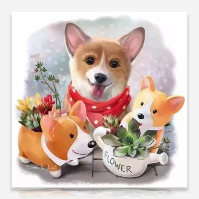 행복한 강아지 DIY 보석십자수 십자수 비즈세트