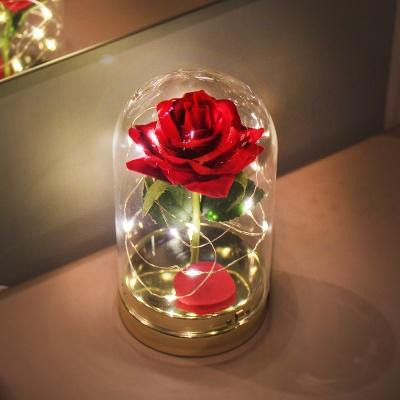 레드 트윙클 로즈 돔 LED 무드등