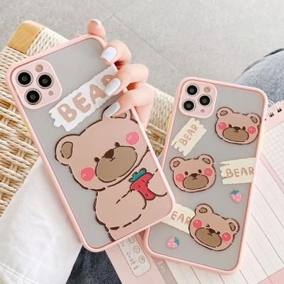 아이폰se2 11pro max xs 8 귀여운 곰돌이 젤리 케이스