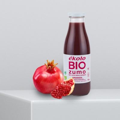 프리미엄 유기농 100% 석류 착즙 에콜로 주스 750ml