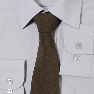 남자 투톤 브라운 넥타이