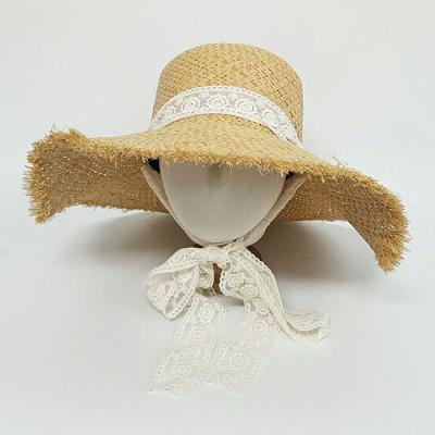 Mujer verano daily 레이스끈 라피초 밀짚모CH1599595