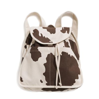 [바쿠백] 드로스트링 캔버스 백팩 Brown Cow (New)