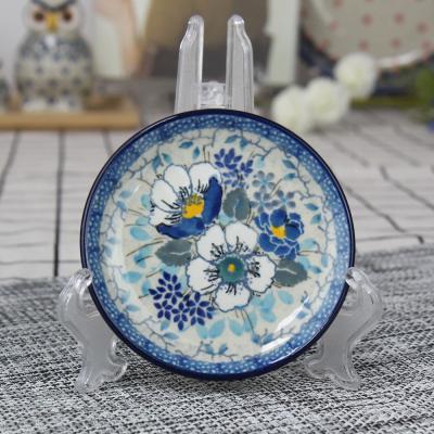 폴란드그릇 아티스티나 원형 접시 10cm 유니캇u4848