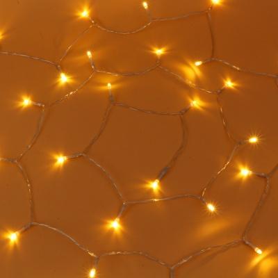 30구 투명선 피켓 LED 웜색전구(3M) (배터리) (점멸有