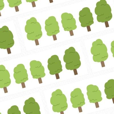 나무 스티커