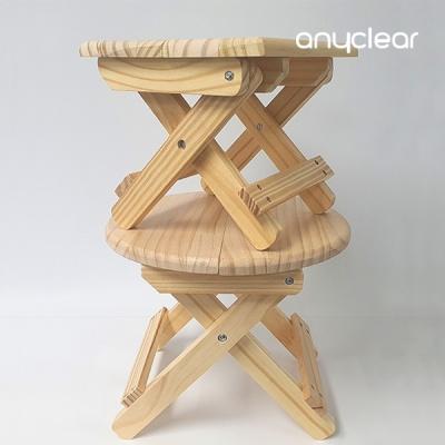 애니클리어 접이식나무받침대 의자 감성 캠핑용