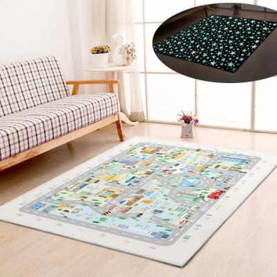 굿나잇 놀이방 야광매트 대형 150x200 시티