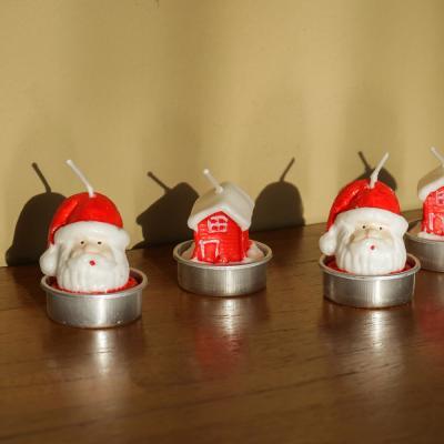 포홈 산타 티라이트 캔들 4p세트 (2 type)