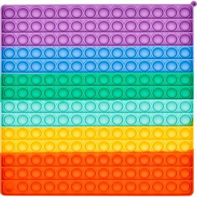레인보우 푸쉬 팝 버블 - 16x16 사각