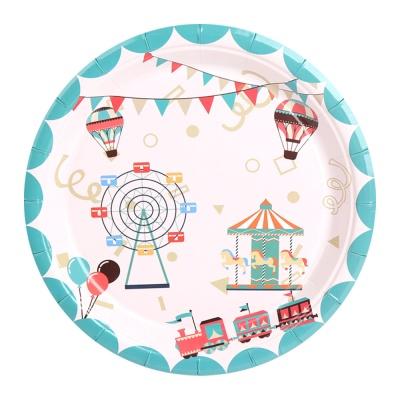 생일 파티접시 18cm (10개입) 놀이동산