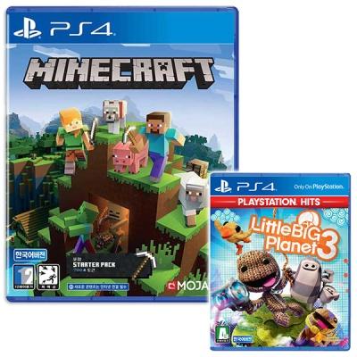 PS4 마인크래프트 스타터팩 + 리틀빅플래닛3 (더블팩)