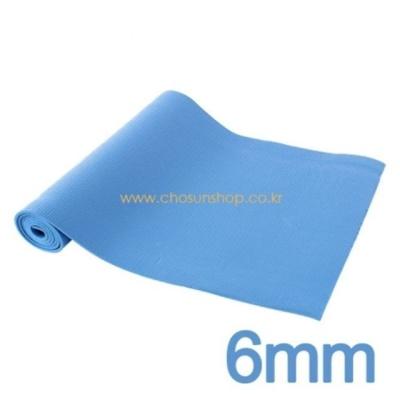 아이워너 PVC 요가매트(중국) 6mm(파랑) 2P