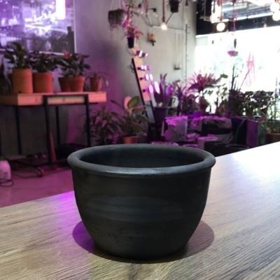빈티지 블랙 흑시루 17x10cm (2호)검정 토분화분