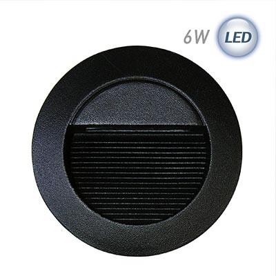 LED 원형 계단매입 6W (블랙)