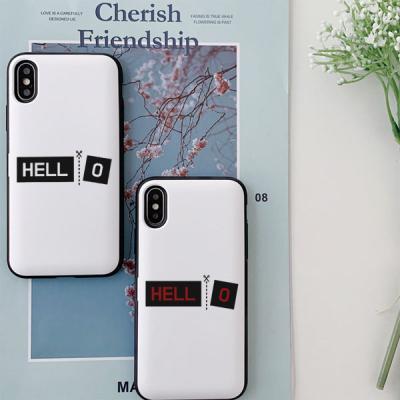 아이폰8플러스 HELLO 카드케이스