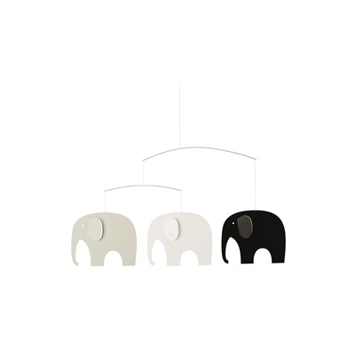 Elephant Party Black/White - 71s 코끼리 모빌