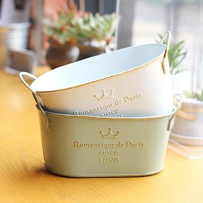 [콩지] 로망띠끄 타원형 바스켓 틴 소