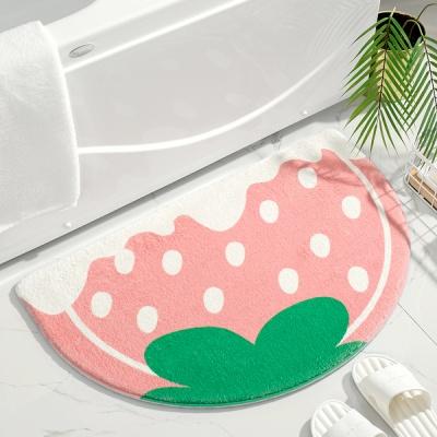 딸기 아이스크림 매트 미니러그 (50x80cm)