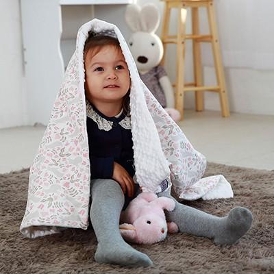 [아이렌즈블랭킷] 아기유모차담요 / 낮잠이불 / 라지사이즈 - 아기자기한 토끼 무늬