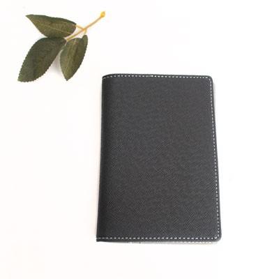 블랙 가죽 여권케이스