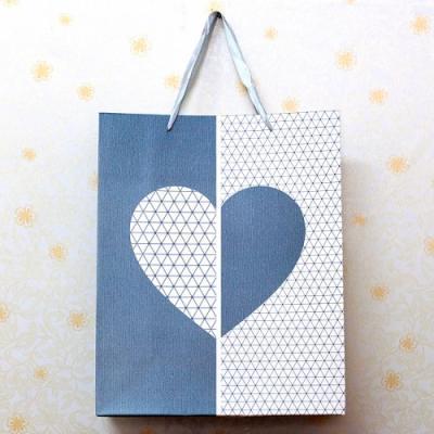 커플웨딩 와인잔선물용 러버스쇼핑백1P(색상랜덤)