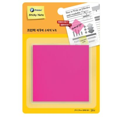 반투명스티키노트 CL7676P 핑크 (프린텍)(개) 329484