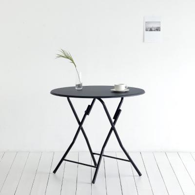 [스크래치] black 접이식 테이블 808 - 원형
