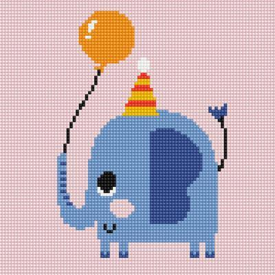 아기 코끼리 준 (캔버스형) 보석십자수 25x25