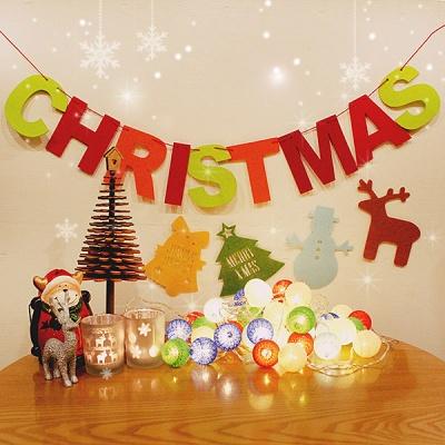 해피크리스마스 심플 홈데코 DIY세트 A타입