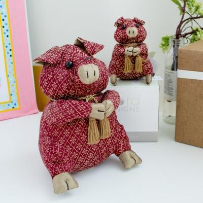 도라 디자인 돼지 도어스톱 (미니, 중)