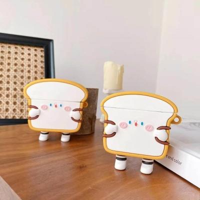 에어팟 1/2/3/프로 토스트 식빵 캐릭터 실리콘 케이스