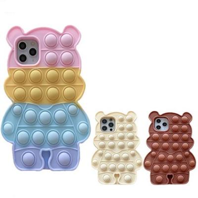 아이폰12 PRO MAX 미니 곰돌이 푸쉬팝 팝잇 폰케이스
