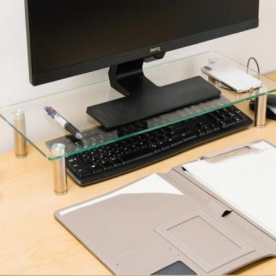 강화유리 모니터 노트북 받침대 2size