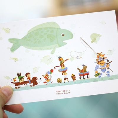 YELLOWSWEATER POSTCARD-FISH 04