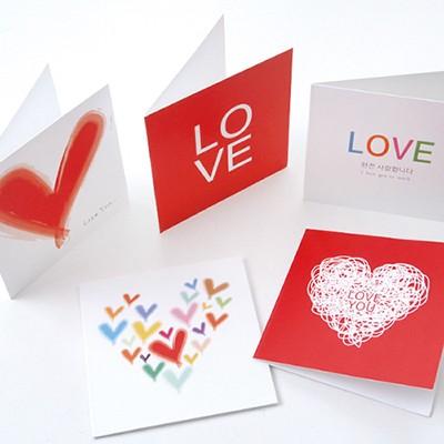 미니축하카드 5Set - 사랑